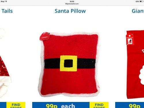 Santa pillow 99p @ 99p stores
