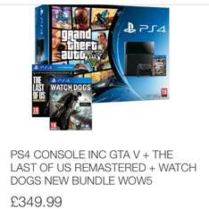 Ps4 with GTA 5, the last of us and watchdogs all for £349.99 @ ShopTo / ebay
