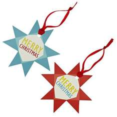 John Lewis Woodland Star Gift Tags, Pack of 8 £0.50 (was £1.75) at John Lewis