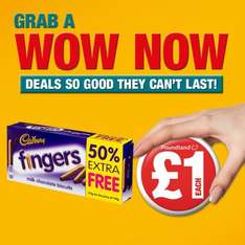 Cadbury Fingers 50% extra free for £1