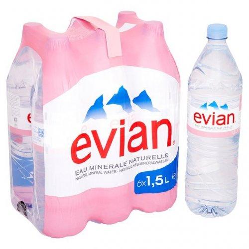 Evian Still Mineral Water 6 x 1.5L - 2 for £6 at Ocado