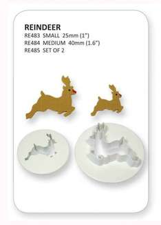 Christmas Reindeer Sugarcraft Cutters 25mm/40mm £2.99 FREE DELIVERY @ Cake and Cookie Central Amazon