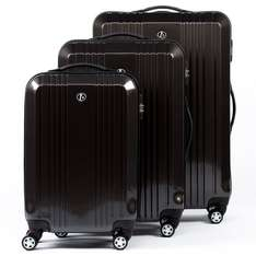 FERGÉ trolley set of 3 - Stripe3000 - three pcs luggage with 4 wheels (360) -anthracite-shiny ABS & PC - lightweight DURE-FLEX hard-shell £109.90 Sold by Jive24 - bags & accessories and Fulfilled by Amazon