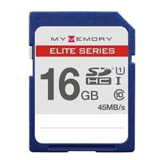 16GB SDHC Elite Series - 45MB/s Class 10 @ Play sold by MyMemory