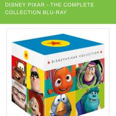 Disney pixar the complete collection BLU RAY £49.49 delivered with code VBOX10 @ zavvi