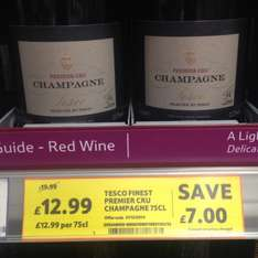 3 bottles of Tesco Finest Premier Cru Champange For £31.77 or £12.99 each!