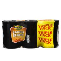 Branston Baked Beans (3 x 410g) or Branston Spaghetti in Tomato Sauce (3 x 395g) was 50p a tin now 3 tins for £1.00 @ Iceland