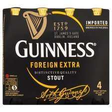 4 pack of guinness foreign extra -£5.50 [save £1.39)