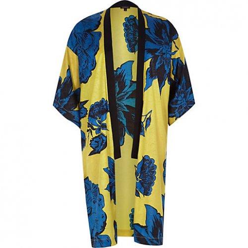 Yellow floral print kimono £20 @  river island