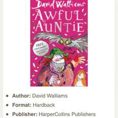 David Walliams Awful Auntie Hardback book £5 Tesco instore & online