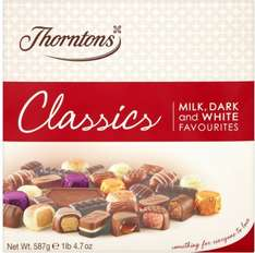 Thorntons Classic Chocolates (587g = 1lb 4.7 oz) was £12.00 now ONLY £5.00 @ Morrisons