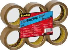 6 rolls 50mm x 66m scotch tape (Parcel tape) £7.05  (free delivery £10 spend/prime)  @ Amazon