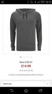 bench hoody £14.99 @ The Hut