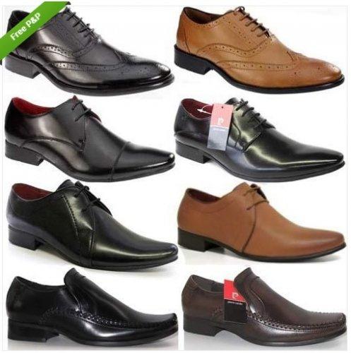 Mens Pierre Cardin Leather Shoes Designer Italian Smart Formal Wedding Shoe - £19.99 Delivered @  dallas-shoes / ebay DOTD