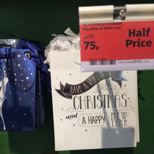 Sainsburys Christmas cards an gift bags 75p @ Sainsburys
