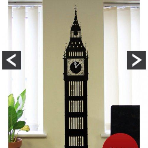 Big Ben wall sticker clock £6 at very