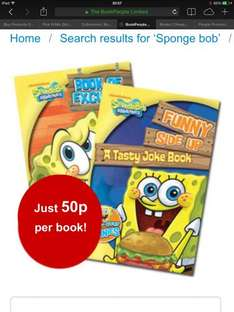 The book people 2 spongebob books £1 and many other stocking filler collections