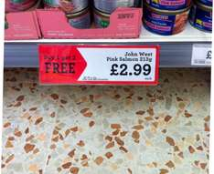 John West pink salmon £2.99 buy one get two free @ morrisons
