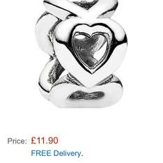 Pandora Heart Charm @ Amazon for £11.90 with free delivery