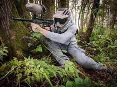 Voucher for paintball sessions from £2 per person or less (Skirmish Paintball) via Amazon Local