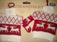 Knitted christmas jumpers 50p @ B&M Retail