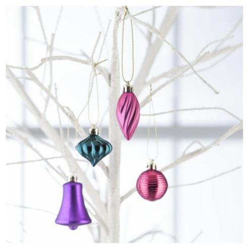 Mini Christmas Baubles 25 Pack £1 @ TESCO