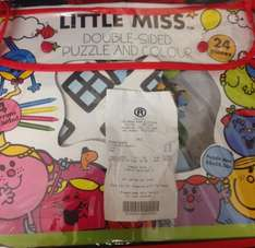 Little Miss Double-Sided Puzzle and Colour jigsaw £1 @ The Range