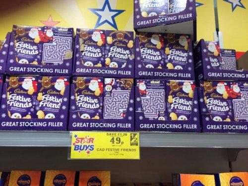 Cadburys Festive Friends only 49p @ Home Bargains