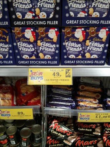 Cadburys Festive Friends 150g £0.49p at Home Bargains