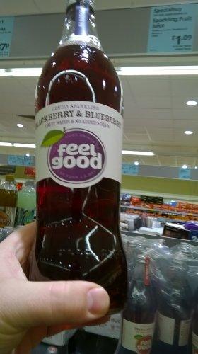 Feel Good lightly sparkling 750ml Blackberry & Blueberry - Aldi - £1.09
