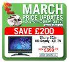 March Price Updates : 100s of Catalogue prices cut @ Argos !