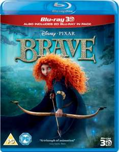 Brave (Blu-ray 3D + Blu-ray) [Region Free] - £8.99 @ Amazon (Free delivery with prime/£10 spend)