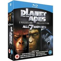 Planet Of The Apes: Evolution Collection 1-7 Blu-Ray Box Set, £15 at Play/Foxdirect