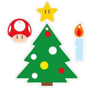Free Christmas Tree decorations/Gift Tags @ Nintendo-Europe/Kids Club