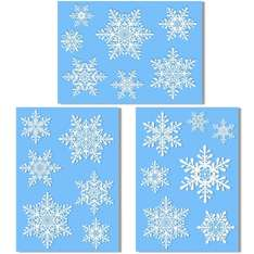 20 Large Snowflake Window Clings - Quick and Simple Christmas Decorations - Glueless PVC Stickers - £3.75 @ Amazon (sold by supplies direct)