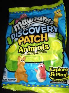 Maynard's 160g family packs discovery patch animals  £1 for 5 bags - £2 for case of 10 @ Farmfoods