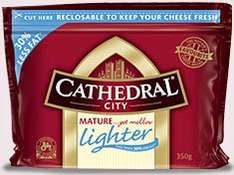 2 x Cathedral City mature lighter cheese 350g 99p (buy one get one free) @ 99p stores