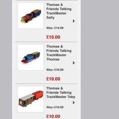 Trackmaster trains £10 + £1.49 postage free delivery over £40 @ bargainmax