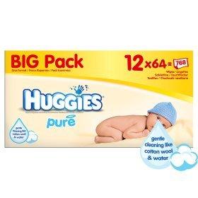 Huggies Pure Baby Wipes Multipack 12 x 64 £9.00 @ Asda Fantastic Price