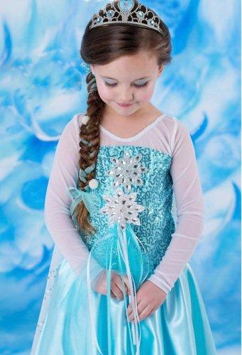 TKOOFN Frozen Queen Elsa Princess Kids Girls Fancy Dress £17.99 Sold by laptopadapterseller and Fulfilled by Amazon
