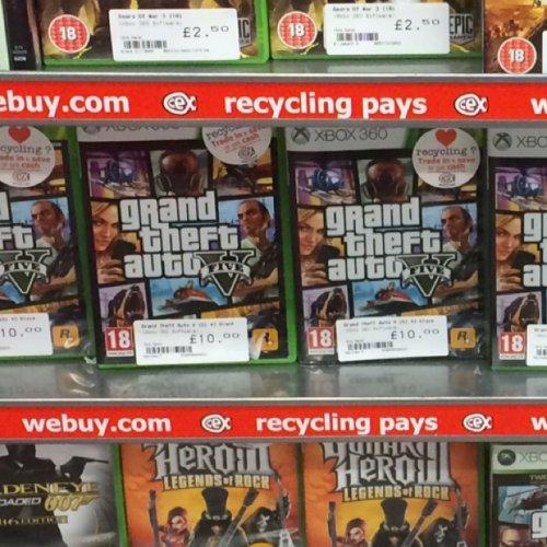 Grand theft auto V PS3/Xbox 360 £10.00 @ Cex