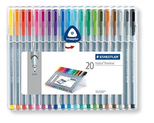 Staedtler Triplus Fineliner 334 SB20 Tips Desktop Box - Assorted Colours (Pack of 20), £10.00  Delivered @ Amazon