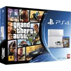 White PS4 with Grand theft auto 5, Far Cry 4 and Little Big planet 3 £349.99 at Argos