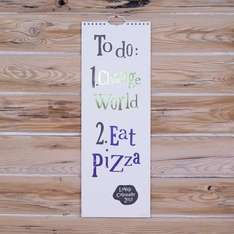 The Bright Side 2015 'Change World, Eat Pizza' Calendar £4.79 at WHSmith (order online - collect in store)