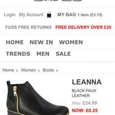 Garage shoes price glitch?! All shoes under 50p!