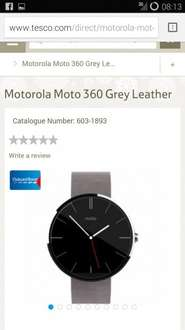 Moto 360 grey and chrome £199.99 delivered at Tesco Direct