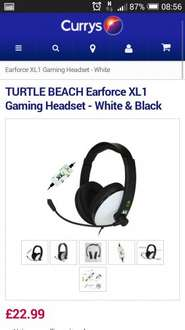 TURTLE BEACH Earforce XL1 Gaming Headset - White & Black £22.99 @ Currys