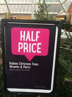 50% off wreaths and plants Dobbies Garden Centre @ Tesco Stores