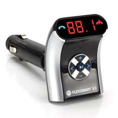 GOgroove FlexSMART X3 Mini Bluetooth Wireless FM Radio Transmitter Car Kit with Noise Cancelling Mic for Hands-Free Calling , Audio / Music Playback & Universal USB Device Charging £34.99  with code Sold by Accessory Genie and Fulfilled by Amazon