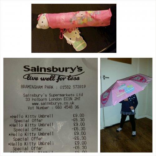Hello Kitty umbrella @ Sainsbury's - £2.70